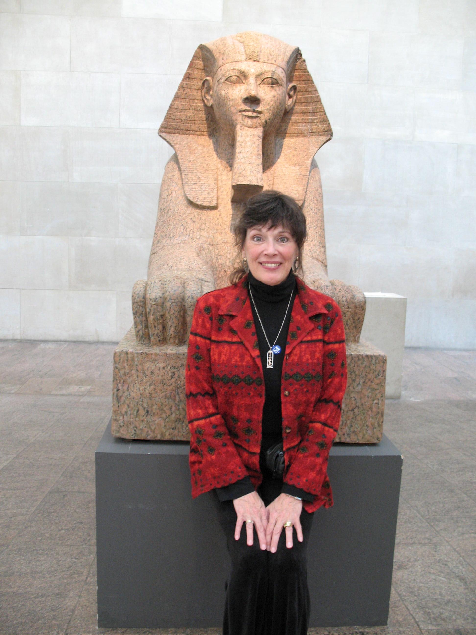julie loar in Egypt by sphynx