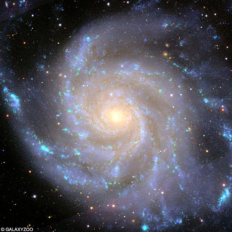 spiral galaxy with stars