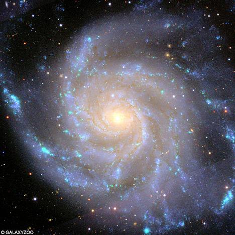 spiral galaxy with stars