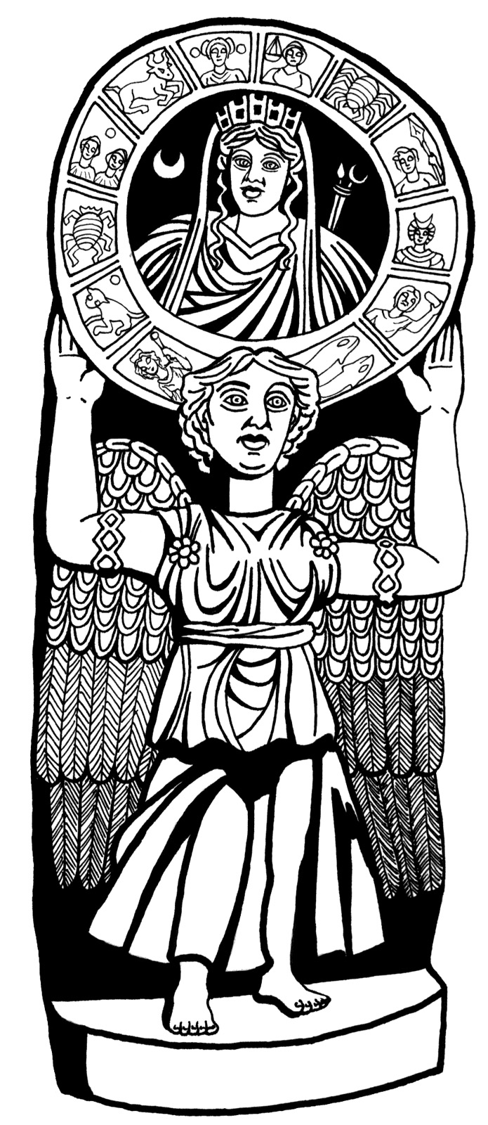 Atargatis Zodiac_Mystery Religion in the Ancient World p 2