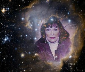 Julie Loar in cloud of stars