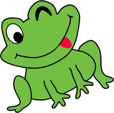funny frog clipart